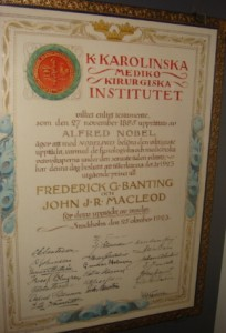 Nobel Prize Certificate
